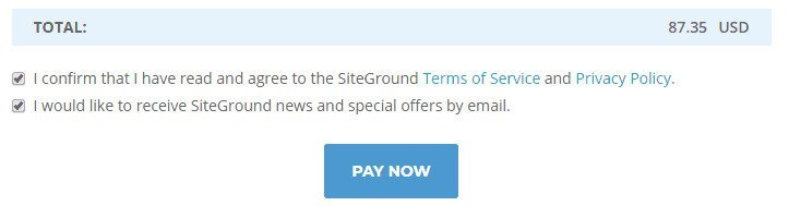 Siteground Check Out