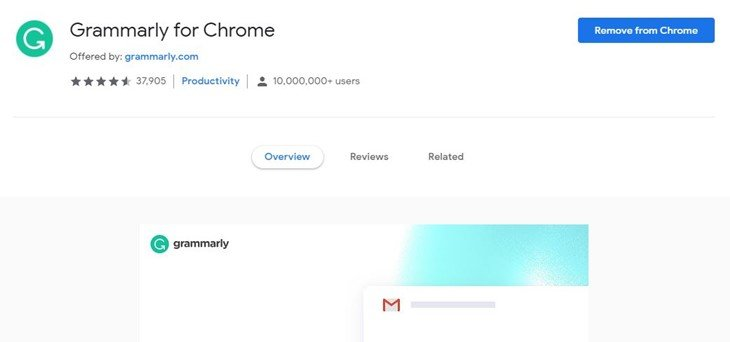 Grammarly - Best Chrome Extensions for Bloggers